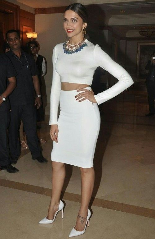 Deepika in white and white fashion