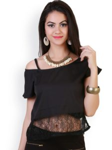 Evening party off shoulder top from Myntra under Rs.600