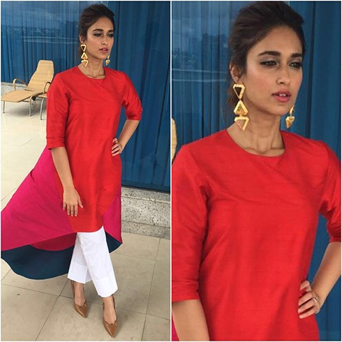Ileana-dcruz during the promotions of Rustom