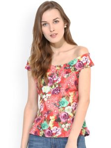 Myntra off shoulder top under Rs.600