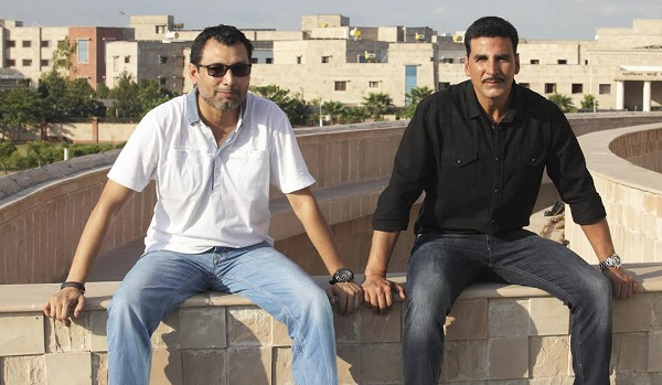 Neeraj Pandey with Akshay Kumar for the film Rustom