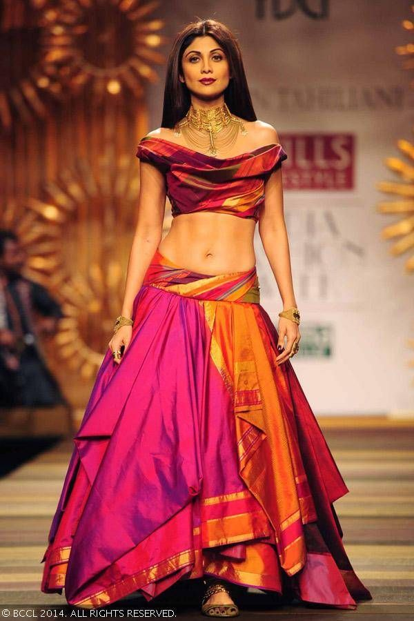 Reuse old silk saree as a lehenga