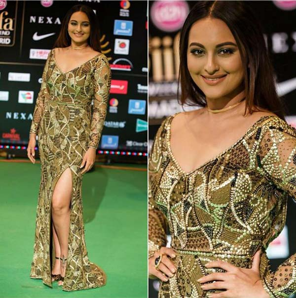Sonakshi sinha in choker necklace at IIFA 2016