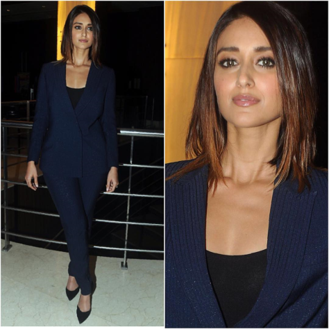 ileanadcruz in Intrinsic outift for Rustom promotion