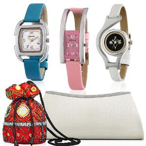watches and clutches