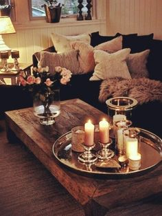 Home decor ideas candles in living room