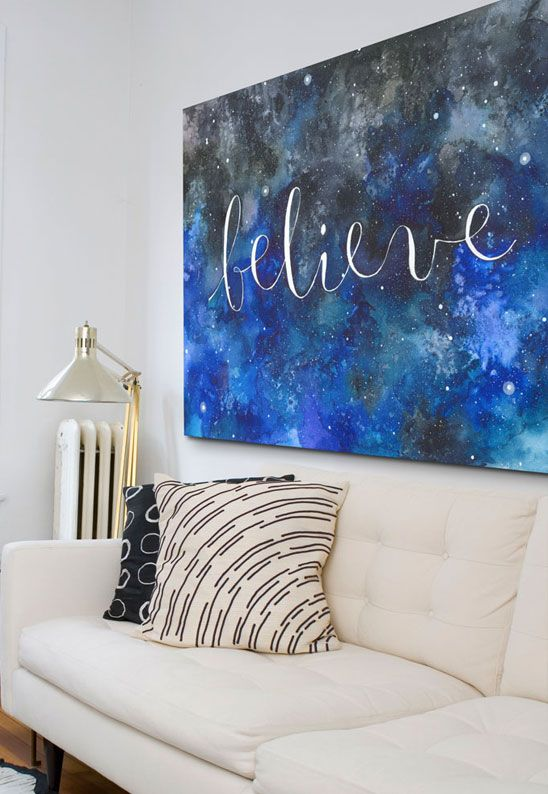 Wall art as home decor for single ladies