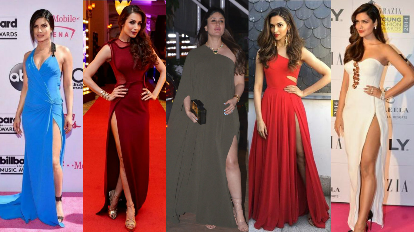ce4c98683 Top Bollywood Celebrities Who Slayed In Thigh High Slit Gown Dress ...