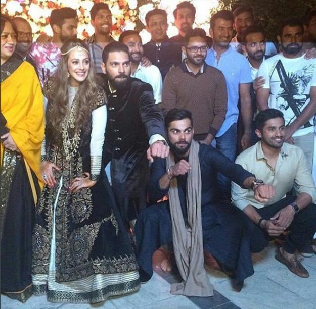 yuvraj singh and hazel keech wedding photo-1