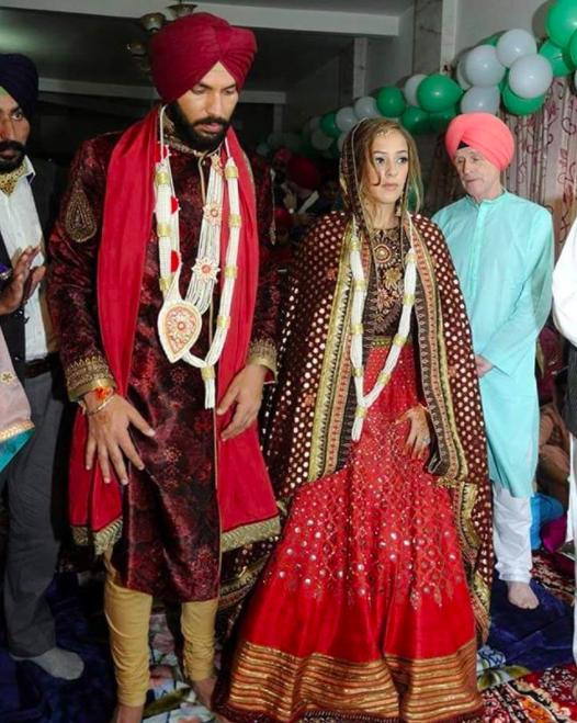 yuvraj singh and hazel gurudwara wedding photos