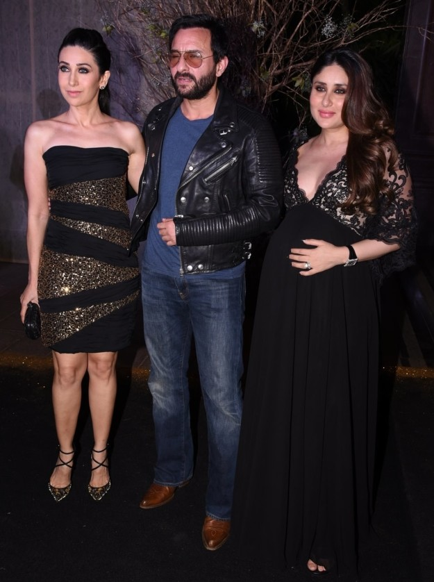 Karishma Kapoor, Saif ALi Khan Kareena Kapoor at Manish Malhotra's birthday party