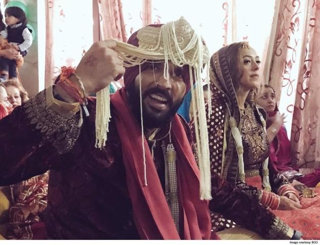 yuvraj singh at his wedding