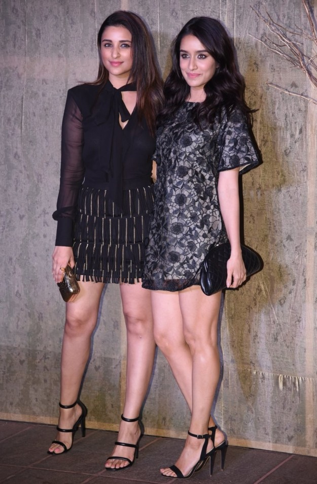 Shraddha Kapoor and Parineeti Chopra at Manish Malhotra's birthday party