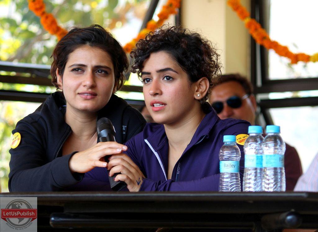 Dangal actresses – Fatima Shaikh and Sanya Malhotra at Jumpin Heights