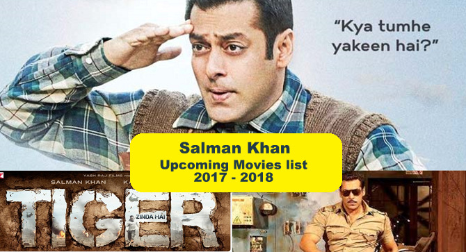 New Hindi Movei 2018 2019 Bolliwood: Salman Khan Upcoming Movies List 2017, 2018