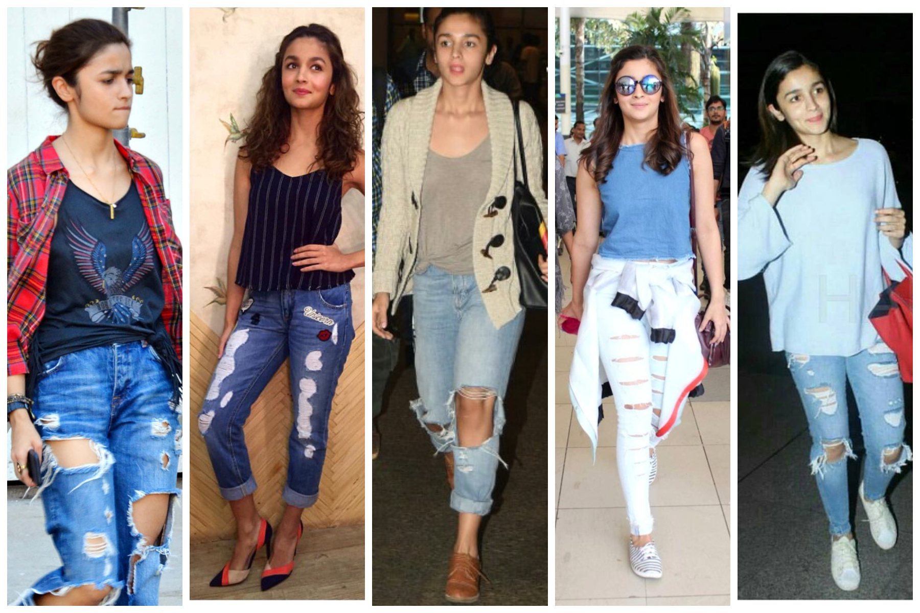 Bollywood's leading ladies who loves to endorse Ripped Jeans - Priyanka Chopra