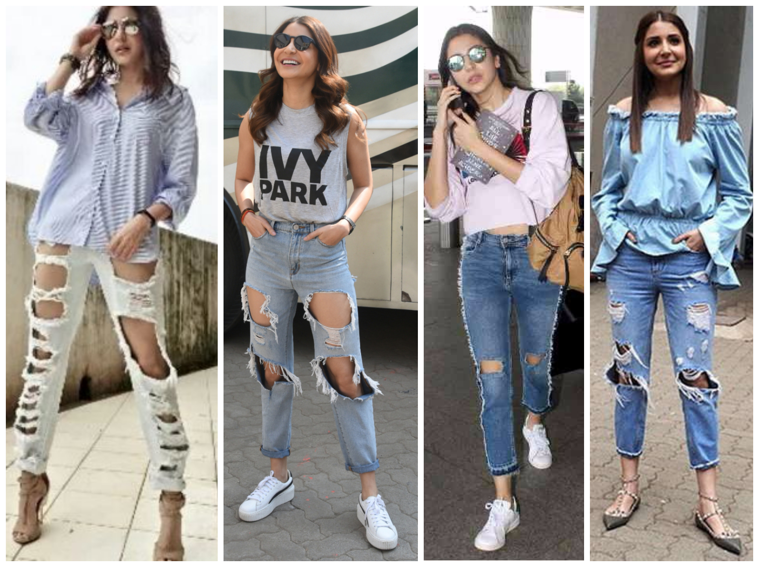 Bollywood's leading ladies who loves to endorse Ripped Jeans - Anushka Sharma