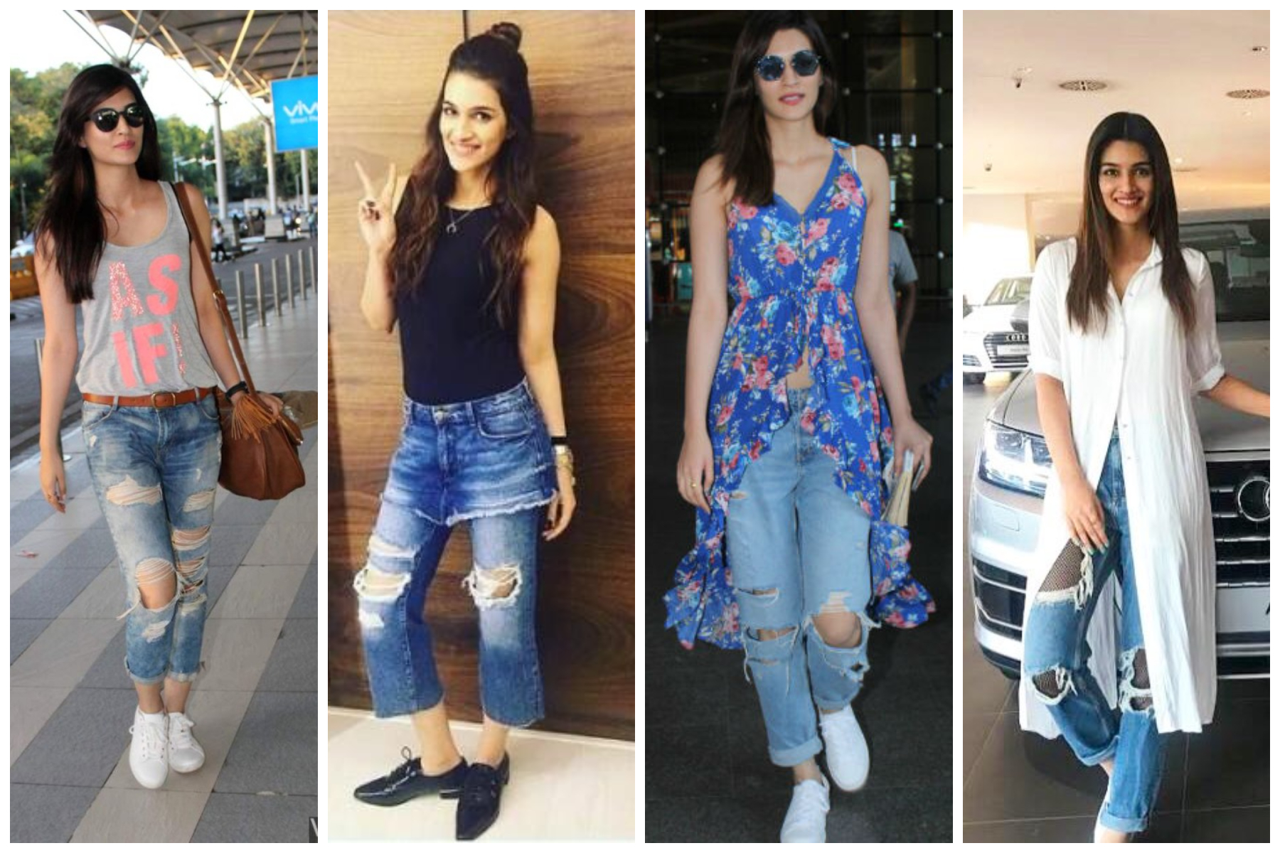 Bollywood's leading ladies who loves to endorse Ripped Jeans - Kriti Sanon