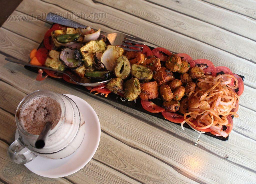 Tandoori Platter with Oreo Shake