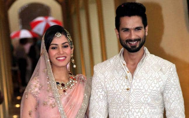 Shahid Kapoor And Meera Cute Bollywood real life couple