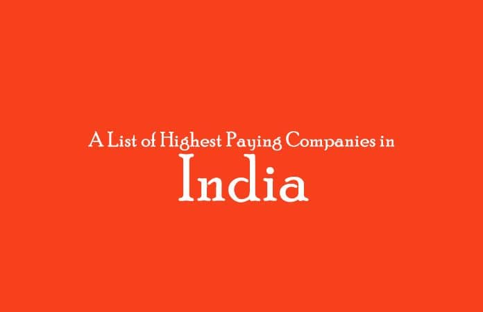 Highest Paying Companies in India