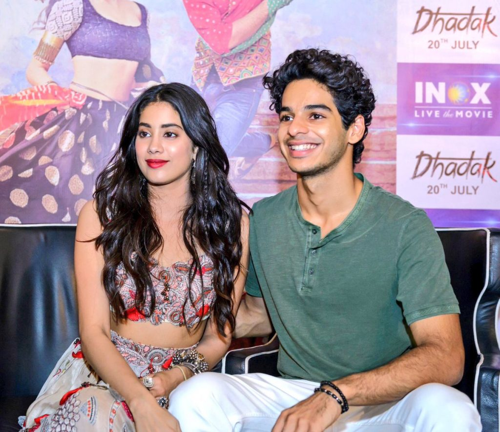 Jahnvi Kapoor with Ishaan Dhadak Promotions
