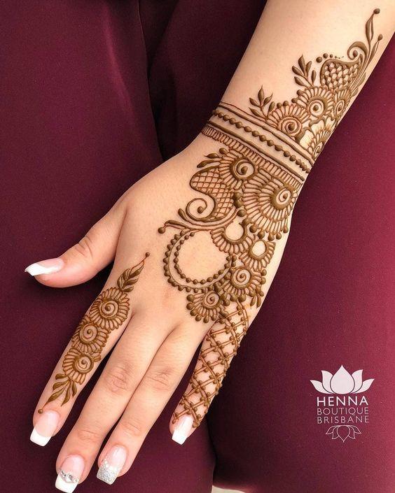 Latest Back Hand Mehndi Design Ideas , Paperblog