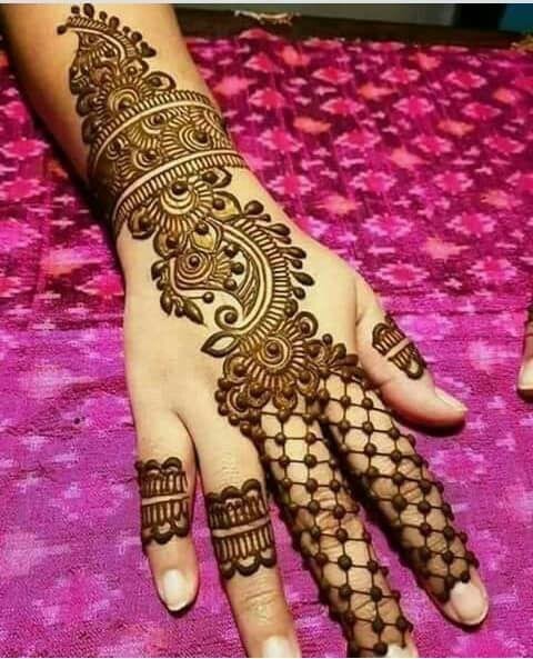 Latest Back Hand Mehndi Design Ideas , Let Us Publish