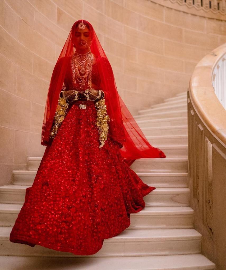 Priyanka Chopra as bride in Wedding lehenga